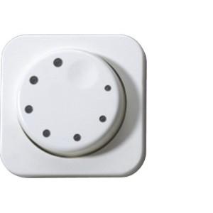 Abdeckung für elektronische Dimmer mit Beleuchtung, weiss