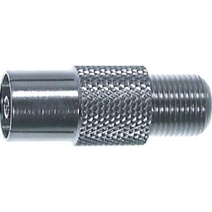 Adapter, F-Kupplung/Koax- Kupplung, Durchm: 9,5mm