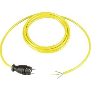 Anschl.Ltg.BQ-F 3G1,5, 5m gelb 1.Seite Vollgummistecker sw