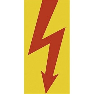 Aufkl.  Blitz  rot 52x105mm