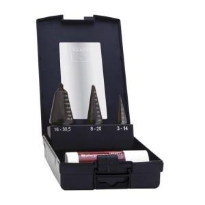 Blechschälbohrer-Set1 HSS DM05 in Kunststoffkassette
