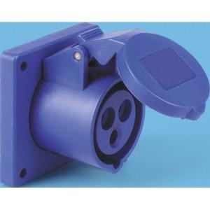 CEE-ABD 16A, 3p.6h, 230V, IP44 blau,gerad,SIROX,vern.,LM56x56