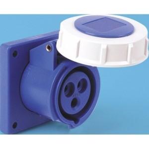 CEE-ABD 16A, 3p.6h, 230V, IP67 blau, gerade,FL75x75,LM60x60