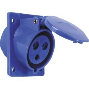 CEE-ABD 32A, 3-p.6h, 230V,blau IP44,schräg,FL80x97,LM73x60
