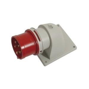 CEE-AGSt. 16A, 5p.6h, 400V IP44, rot, winkel, FL100x90,