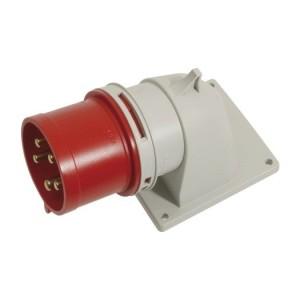 CEE-AGSt. 32Am 5p.6h, 400V IP44, rot, winkel, FL100x90,