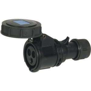 CEE-KPL. 16A,3p.6h,230V, IP67 schwarz