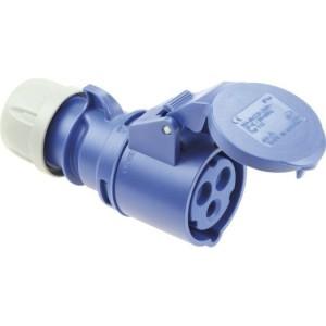 CEE-KPL. 32A,3p.6h,230V, IP44 blau