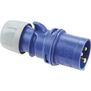 CEE-St. 32A, 3p.6h, 230V, IP44 blau