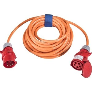 CEE-Verl. H07BQ 5G2,5, 25m 16A, 400V, 5-polig, 6h,orange