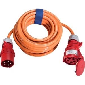 CEE-Verl. H07BQ 5G4, 10m 32A, 400V, 5-pol., 6h, orange