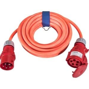 CEE-Verl. H07BQ 5G4, 25m 32A, 400V, 5-pol., 6h,l-orange