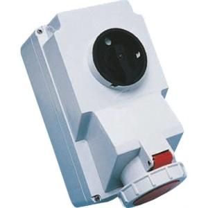 CEE-WD 16A, 5p.6h, 400V, IP67 rot, 3xM25 Verschraubung