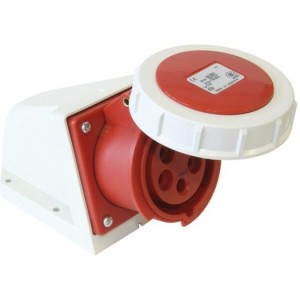 CEE-WD 16A, 5p.6h, 400V, IP67 rot, vernickelte Kontakte