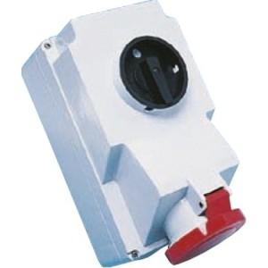 CEE-WD 32A, 5p.6h, 400V, IP44 rot, 3xM25 Verschraubung