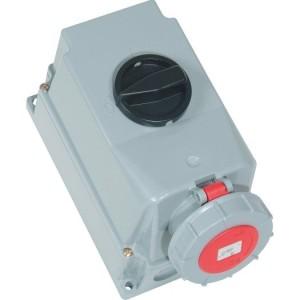 CEE-WD 63A, 5p.6h, 400V, IP67 rot,ohne Pilotkontakt