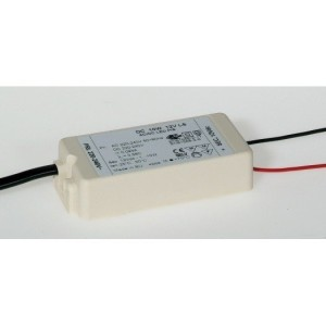 DC NV-Trafo 0-10W, 12V, für LED Lampen 76x36x18mm