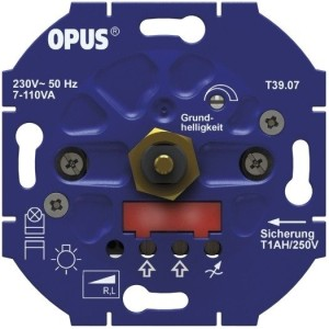 Dreh-ESL u. LED-Dimmer 110VA