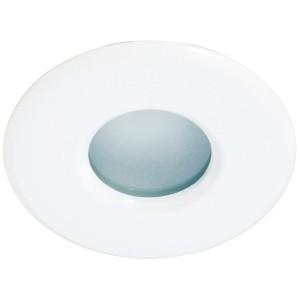 Druckguß-Einbaustrahler DELUNA IP44, 50W, MR16, weiß, starr