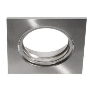 Druckguß-Einbaustrahler DELUNA Quadrat,o. Clipring, 50W,Eisen