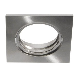 Druckguß-Einbaustrahler DELUNA Quadrat, o. Clipring, 50W,mess