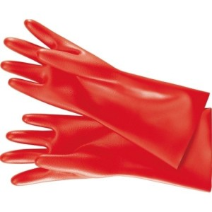 Elektriker-Schutzhandschuhe rot, Gr. 10