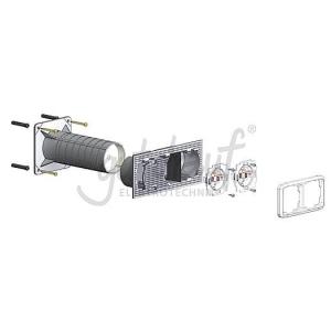 Elektroinstallationsdose für max. 3 Geräte
