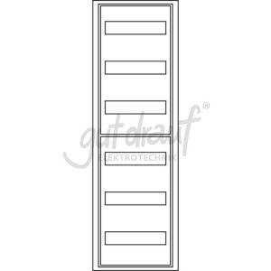 Feldverteiler FV 1-6 1 Feld / 6 Reihen, 72 TE