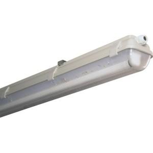 Feuchtraum-Wannenleuchte 2x58W für LED vorverdrahtet