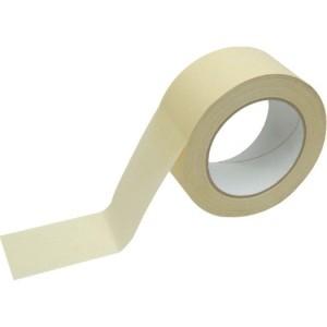 Flachkrepp-Abdeckband, gelb Breite: 50mm Länge: 50m