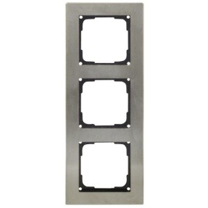 Fusion Edelstahlrahmen 3-fach Rahmen 3 fach schwarz