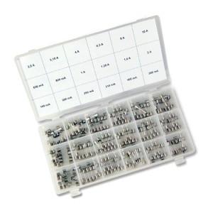 G-Schmelzeinsatz-Sort. 180Stck 5x20mm, flink, 0,16-10,0A
