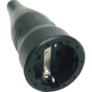 Gummi-Schutzkontakt-Kupplung Farbe: schwarz, Fabr. ABL