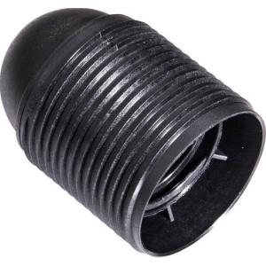 Isolierstoff-Fassung E27 Außengewindemantel, schwarz