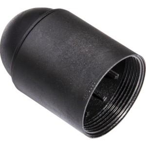 Isolierstoff-Fassung E27 Glattmantel, schwarz
