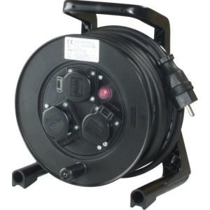 JumboXS-Kabeltrommel 25m H07RN-F 3G1,5 qmm schwarz