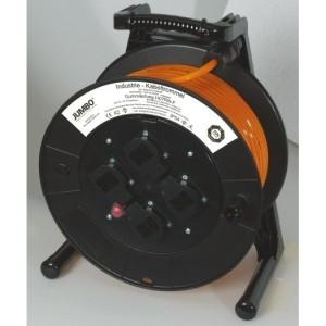 Jumbo-Kabeltrommel 25m H07BQ-F 3G1,5 qmm orange