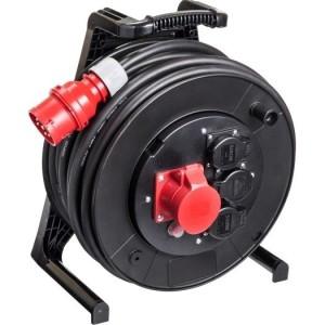 Jumbo-Kabeltrommel 25m H07RN-F 5G2,5 qmm schwarz