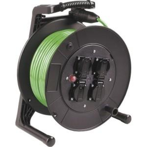 Jumbo-Kabeltrommel 40m H07BQ-F 3G1,5 qmm grün