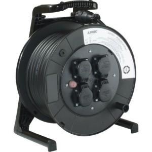 Jumbo-Kabeltrommel 40m H07RN-F 3G1,5 qmm schwarz