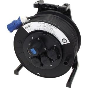 Jumbo-Kabeltrommel 40m H07RN-F 3G2,5 qmm schwarz