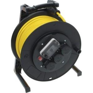 Jumbo-Kabeltrommel mit FI 40m H07RN-F 3G1,5 qmm gelb