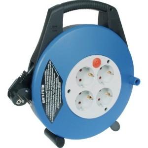 Kabelbox, 4-fach, blau/schwarz Zul. 10m H05VV-F 3G1,5 schwarz