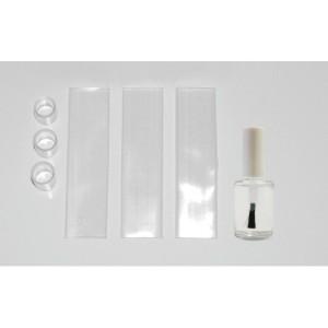 Kunststoffkleber mit 3 Endab- deckungen,Lichtschlauchzubehör