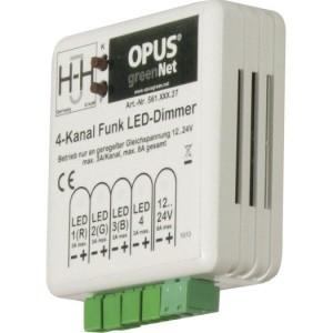 LED-Dimmer 4-Kanal,greenNet 12-24V,max. 3A pro Ausgang