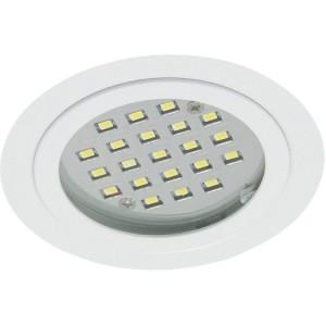 LED-M-Einbaustr.weiß,rund 2,8W,12V DC,120°,warmweiß 830