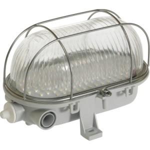 LED-Ovalleuchte mit Drahtkorb