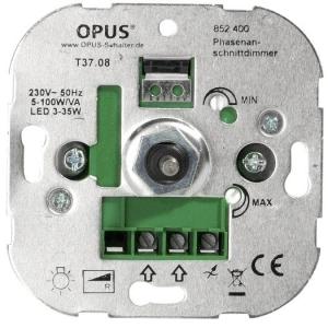 LED-Phasenansch.-Dimmer 5-100W/VA, 50Hz, Schraubkl.