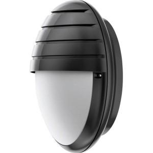 LED-Rundleuchte Dune schwarz mit Schirm, 19 W, IK10