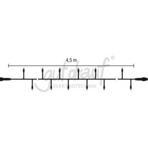 LED String Lite 90 , Gummi- Lichterkette, 4,5m, weiß